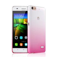 Custodia Silicone Trasparente Ultra Sottile Morbida Sfumato per Huawei G Play Mini Rosa