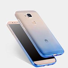 Custodia Silicone Trasparente Ultra Sottile Morbida Sfumato per Huawei G7 Plus Blu