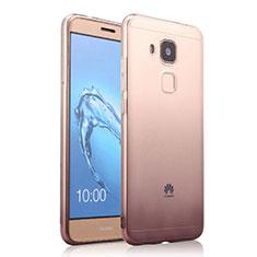 Custodia Silicone Trasparente Ultra Sottile Morbida Sfumato per Huawei G9 Plus Grigio