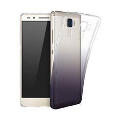Custodia Silicone Trasparente Ultra Sottile Morbida Sfumato per Huawei GR5 Mini Nero