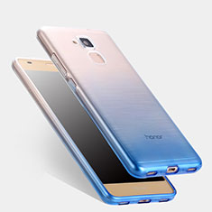 Custodia Silicone Trasparente Ultra Sottile Morbida Sfumato per Huawei GT3 Blu