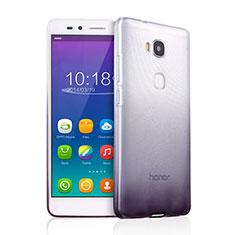 Custodia Silicone Trasparente Ultra Sottile Morbida Sfumato per Huawei Honor 5X Grigio