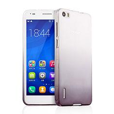 Custodia Silicone Trasparente Ultra Sottile Morbida Sfumato per Huawei Honor 6 Grigio