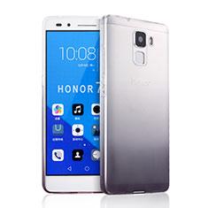 Custodia Silicone Trasparente Ultra Sottile Morbida Sfumato per Huawei Honor 7 Grigio