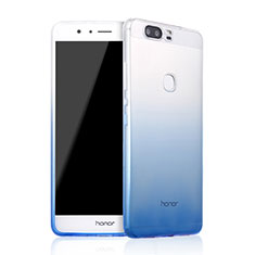 Custodia Silicone Trasparente Ultra Sottile Morbida Sfumato per Huawei Honor V8 Blu