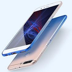 Custodia Silicone Trasparente Ultra Sottile Morbida Sfumato per Huawei Honor V9 Blu