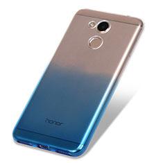 Custodia Silicone Trasparente Ultra Sottile Morbida Sfumato per Huawei Honor V9 Play Blu