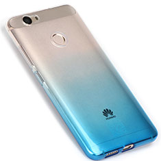 Custodia Silicone Trasparente Ultra Sottile Morbida Sfumato per Huawei Nova Blu