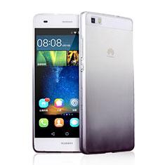 Custodia Silicone Trasparente Ultra Sottile Morbida Sfumato per Huawei P8 Lite Grigio