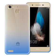 Custodia Silicone Trasparente Ultra Sottile Morbida Sfumato per Huawei P8 Lite Smart Blu