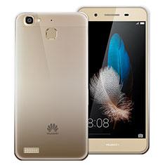 Custodia Silicone Trasparente Ultra Sottile Morbida Sfumato per Huawei P8 Lite Smart Grigio