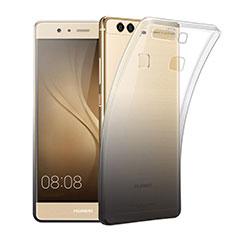 Custodia Silicone Trasparente Ultra Sottile Morbida Sfumato per Huawei P9 Plus Grigio