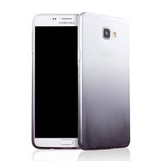 Custodia Silicone Trasparente Ultra Sottile Morbida Sfumato per Samsung Galaxy A9 (2016) A9000 Grigio