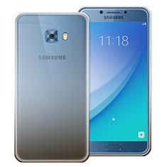 Custodia Silicone Trasparente Ultra Sottile Morbida Sfumato per Samsung Galaxy C7 Pro C7010 Grigio