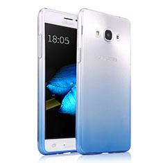 Custodia Silicone Trasparente Ultra Sottile Morbida Sfumato per Samsung Galaxy J3 Pro (2016) J3110 Blu