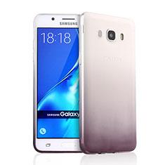 Custodia Silicone Trasparente Ultra Sottile Morbida Sfumato per Samsung Galaxy J5 Duos (2016) Grigio
