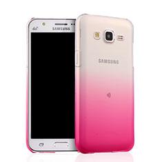 Custodia Silicone Trasparente Ultra Sottile Morbida Sfumato per Samsung Galaxy J5 SM-J500F Rosa