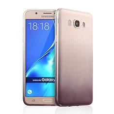 Custodia Silicone Trasparente Ultra Sottile Morbida Sfumato per Samsung Galaxy J7 (2016) J710F J710FN Grigio