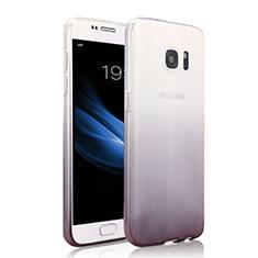 Custodia Silicone Trasparente Ultra Sottile Morbida Sfumato per Samsung Galaxy S7 G930F G930FD Grigio