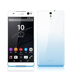 Custodia Silicone Trasparente Ultra Sottile Morbida Sfumato per Sony Xperia C5 Ultra Blu