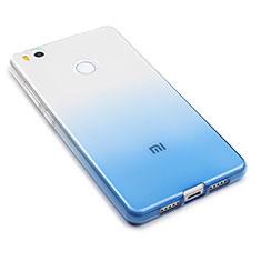Custodia Silicone Trasparente Ultra Sottile Morbida Sfumato per Xiaomi Mi 4S Blu