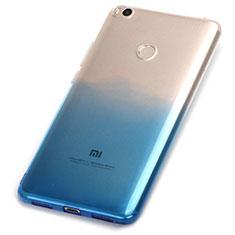Custodia Silicone Trasparente Ultra Sottile Morbida Sfumato per Xiaomi Mi Max 2 Blu