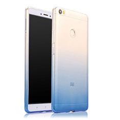Custodia Silicone Trasparente Ultra Sottile Morbida Sfumato per Xiaomi Mi Max Blu