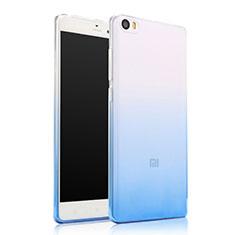 Custodia Silicone Trasparente Ultra Sottile Morbida Sfumato per Xiaomi Mi Note Blu