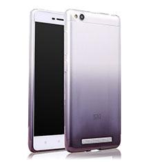 Custodia Silicone Trasparente Ultra Sottile Morbida Sfumato per Xiaomi Redmi 3 Grigio