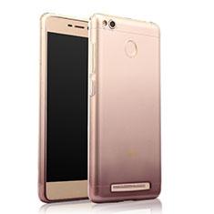 Custodia Silicone Trasparente Ultra Sottile Morbida Sfumato per Xiaomi Redmi 3S Grigio