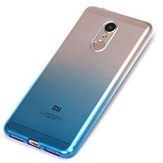 Custodia Silicone Trasparente Ultra Sottile Morbida Sfumato per Xiaomi Redmi 5 Blu