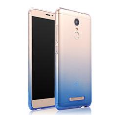 Custodia Silicone Trasparente Ultra Sottile Morbida Sfumato per Xiaomi Redmi Note 3 Blu