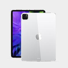 Custodia Silicone Trasparente Ultra Sottile Morbida T02 per Apple iPad Pro 12.9 (2020) Chiaro