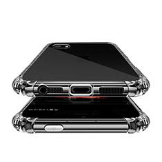 Custodia Silicone Trasparente Ultra Sottile Morbida T02 per Apple iPhone 5 Chiaro