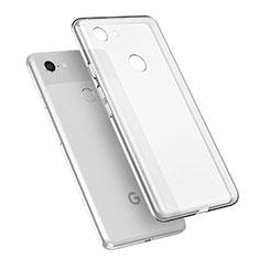 Custodia Silicone Trasparente Ultra Sottile Morbida T02 per Google Pixel 3 XL Chiaro