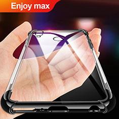 Custodia Silicone Trasparente Ultra Sottile Morbida T02 per Huawei Enjoy Max Nero