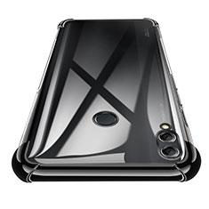 Custodia Silicone Trasparente Ultra Sottile Morbida T02 per Huawei Honor 8X Max Nero