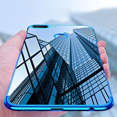 Custodia Silicone Trasparente Ultra Sottile Morbida T02 per Huawei Honor 9i Blu