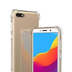 Custodia Silicone Trasparente Ultra Sottile Morbida T02 per Huawei Honor Play 7 Chiaro