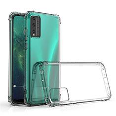 Custodia Silicone Trasparente Ultra Sottile Morbida T02 per Huawei Honor Play4T Pro Chiaro