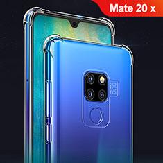 Custodia Silicone Trasparente Ultra Sottile Morbida T02 per Huawei Mate 20 X Chiaro