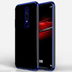 Custodia Silicone Trasparente Ultra Sottile Morbida T02 per Huawei Mate RS Blu