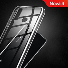 Custodia Silicone Trasparente Ultra Sottile Morbida T02 per Huawei Nova 4 Chiaro