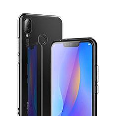 Custodia Silicone Trasparente Ultra Sottile Morbida T02 per Huawei P Smart+ Plus Chiaro