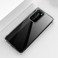 Custodia Silicone Trasparente Ultra Sottile Morbida T02 per Huawei P40 Pro Chiaro