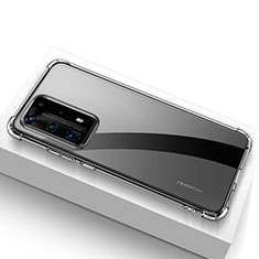 Custodia Silicone Trasparente Ultra Sottile Morbida T02 per Huawei P40 Pro+ Plus Chiaro