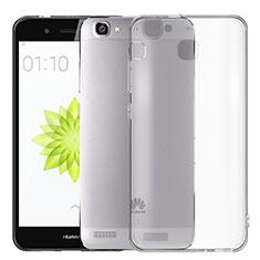 Custodia Silicone Trasparente Ultra Sottile Morbida T02 per Huawei P8 Lite Smart Grigio