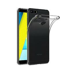 Custodia Silicone Trasparente Ultra Sottile Morbida T02 per Huawei Y6 Prime (2018) Chiaro