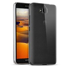 Custodia Silicone Trasparente Ultra Sottile Morbida T02 per Huawei Y6 Pro Chiaro