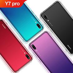 Custodia Silicone Trasparente Ultra Sottile Morbida T02 per Huawei Y7 (2019) Chiaro